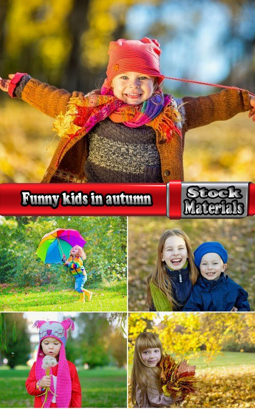 Funny kids in autumn 5 UHQ Jpeg