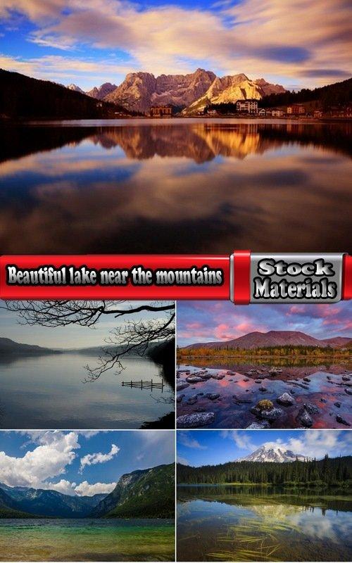 Beautiful lake near the mountains 5 UHQ Jpeg
