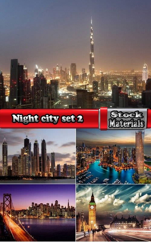 Night city set 2-5 UHQ Jpeg