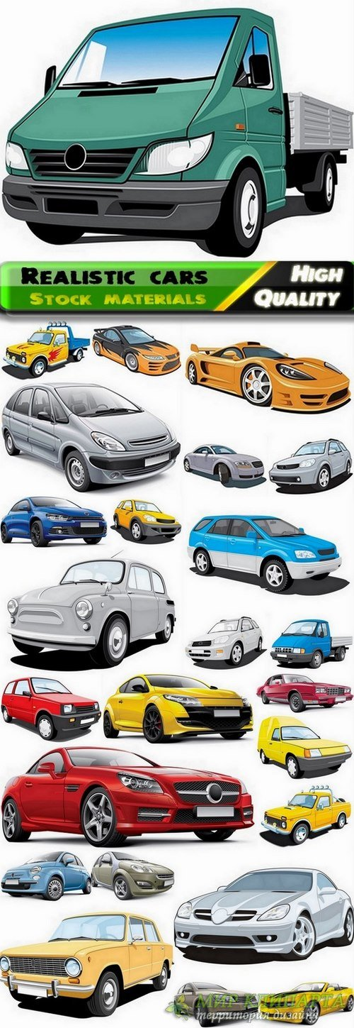 Realistic vector cars from stock - 25 Eps