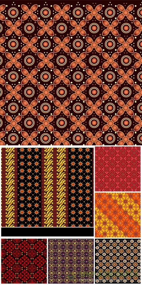Векторные фоны с узорами / Vector backgrounds with patterns # 9