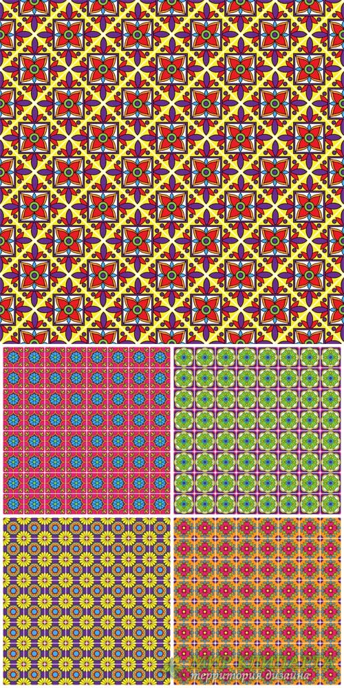 Векторные фоны с узорами / Vector backgrounds with patterns # 12