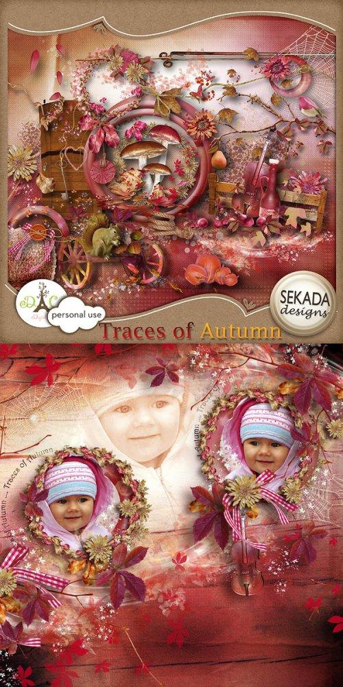 Скрап-набор Traces of autumn