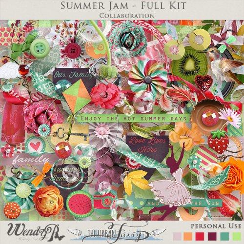 Скрап-набор Summer Jam