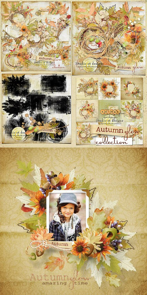 Скрап-набор Autumn glow