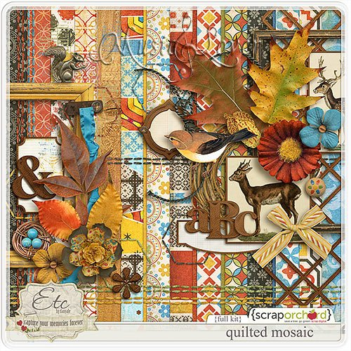 Скрап-наборы - Climbing Trees and Falling Leaves & Quilted Mosaic