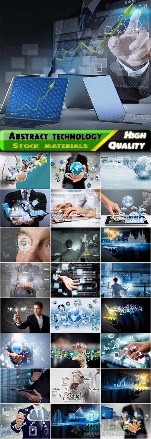 Abstract technology background and business concept - 25 HQ Jpg