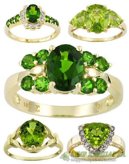 Ювелирные украшения: Кольца и перстни украшенные изумрудом (подборка изобра ...