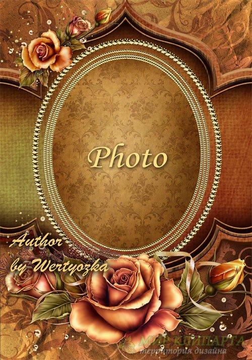 Рамка цветочная для фото - Чайные розы