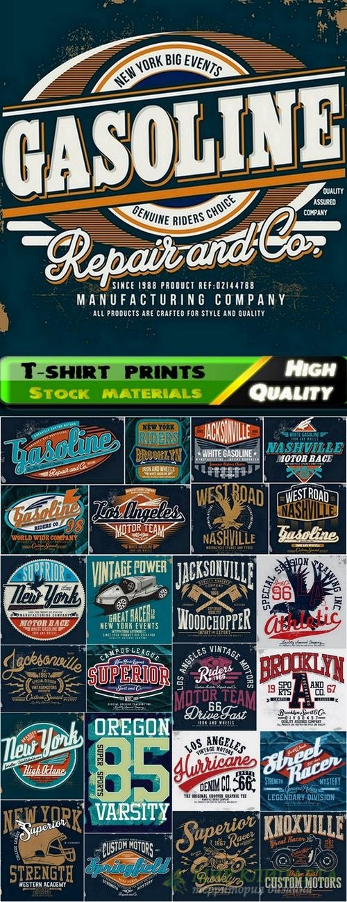 T-shirt print design in vector from stock #2 - 25 Eps