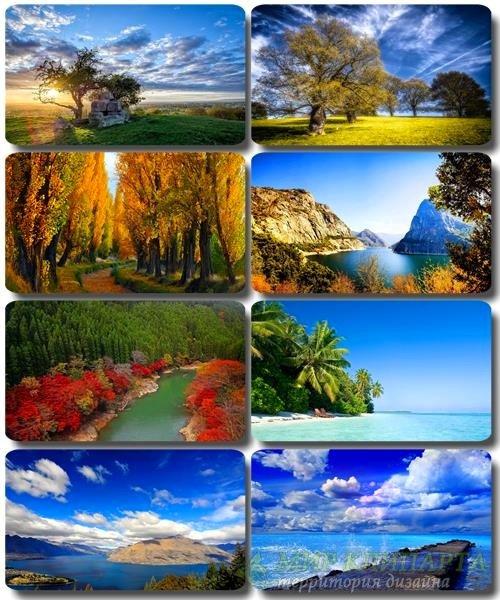 Живописные пейзажи - Обои с фото природы (альбом 29)
