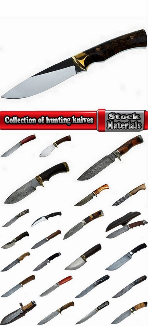 Сollection of hunting knives handmade 25 UHQ Jpeg