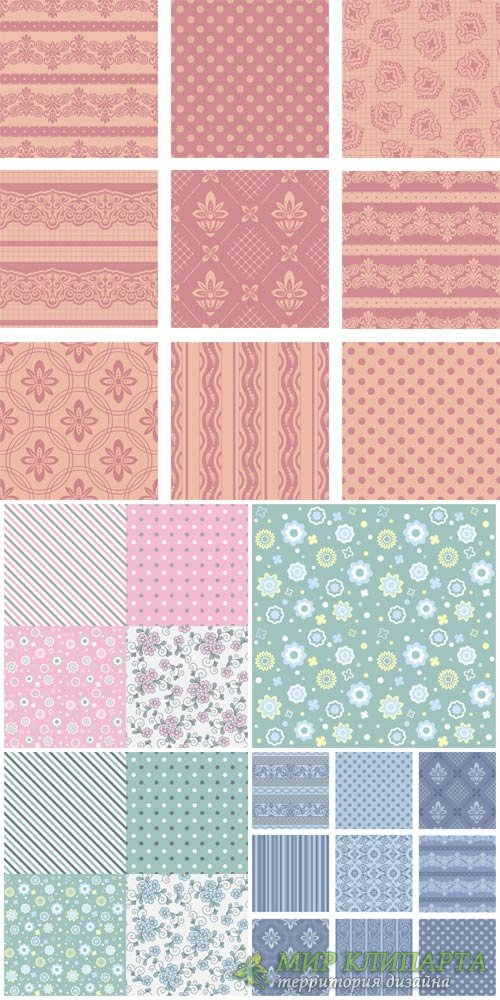 Векторные текстуры # 3 / Vector textures, backgrounds with patterns # 3