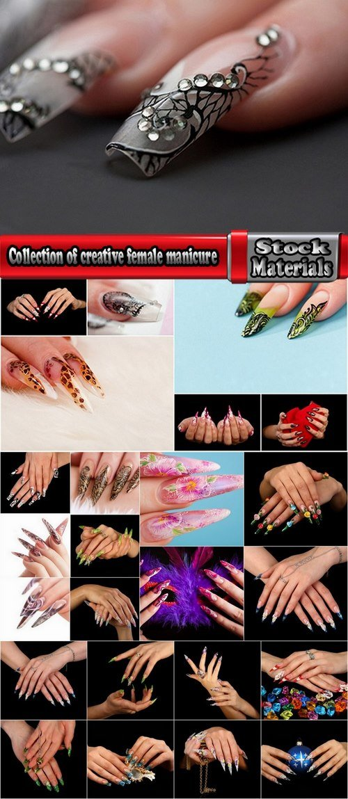 Collection of creative female manicure 25 UHQ Jpeg