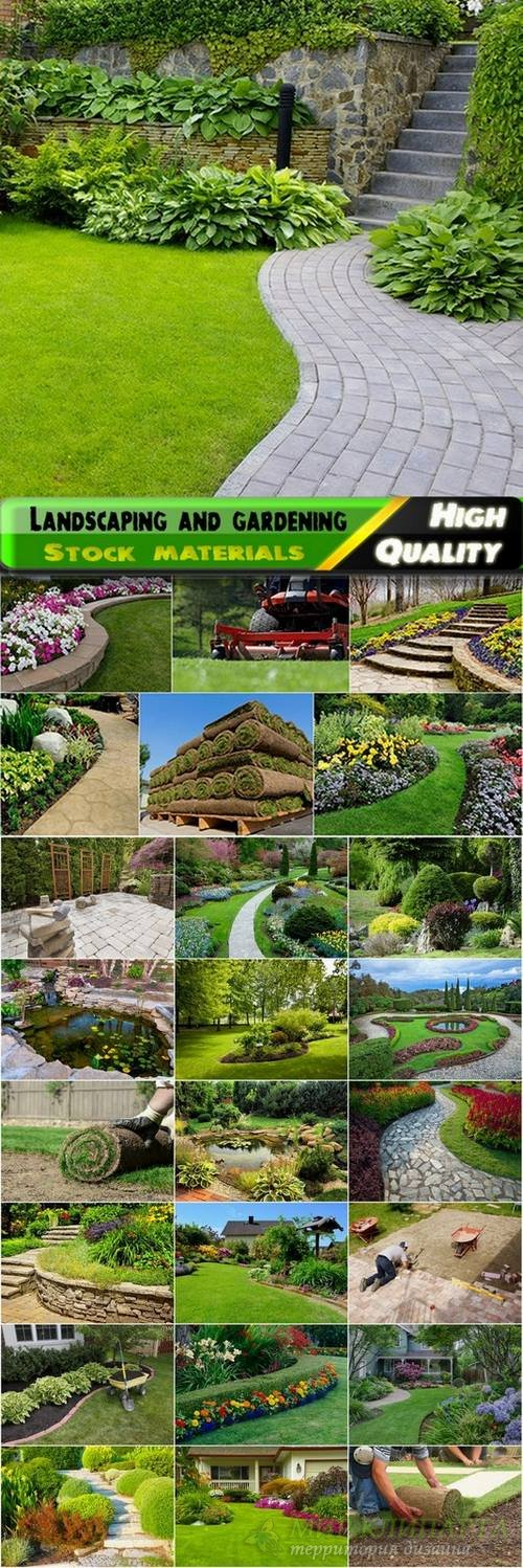 Landscaping and gardening Stock images - 25 HQ Jpg