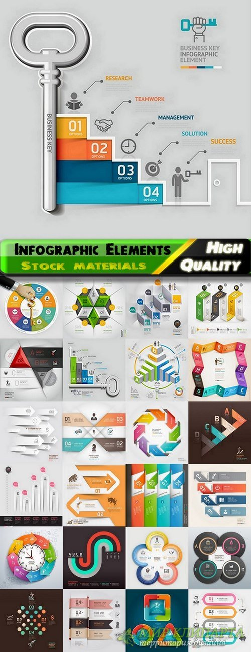 Infographic Design Elements in vector set from stock #85 - 25 Eps