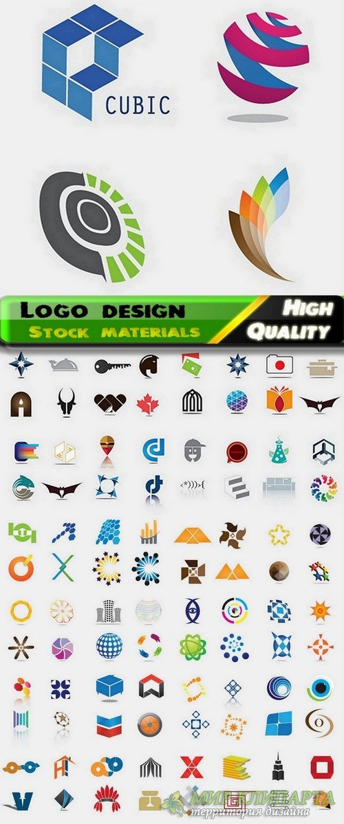 Logo Design in vector Set from stock #38 -  25 Eps