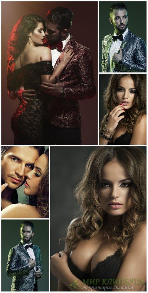 Модные люди, мужчины, женщины, пары / Fashionable people, men - stock photo ...