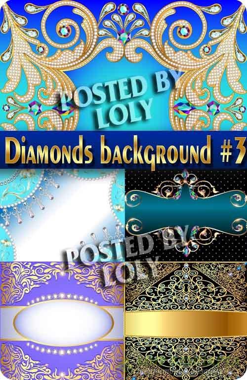 Фоны из драгоценных камней и алмазов #3 - Векторный клипарт