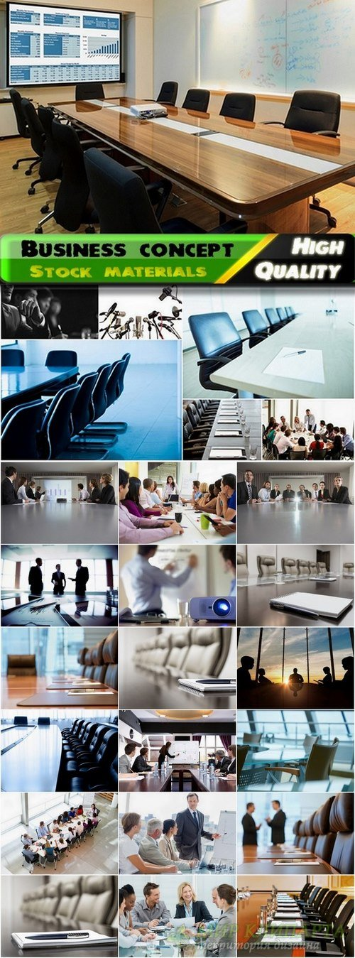 Business concept or boardroom interior - 25 Eps