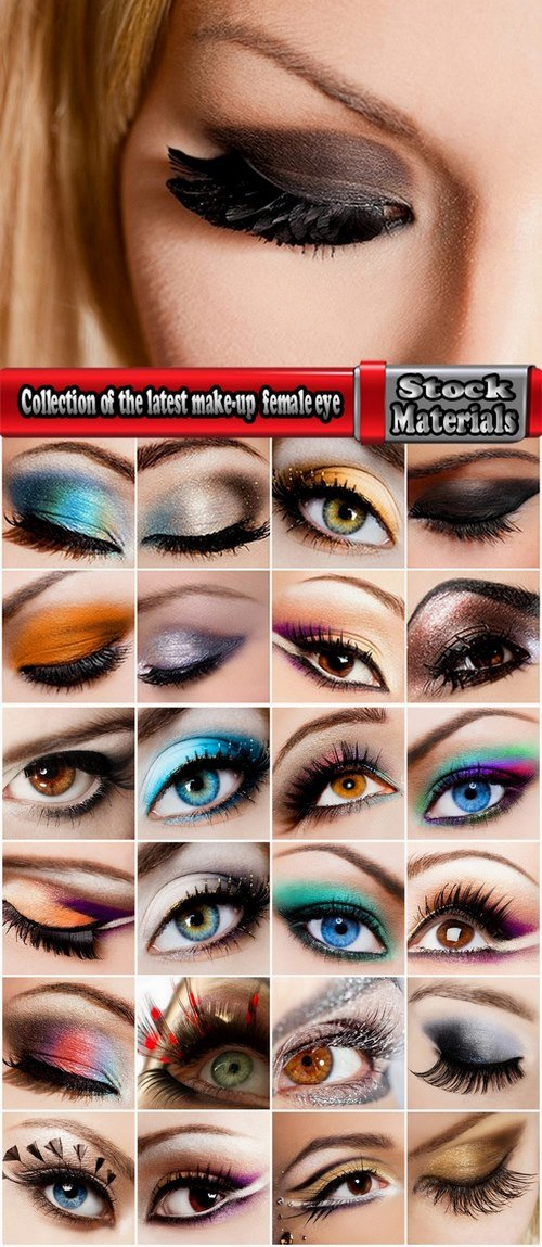 Collection of the latest make-up beautiful female eye 25 UHQ Jpeg