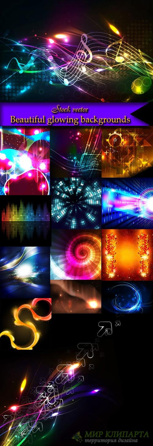 Beautiful glowing backgrounds
