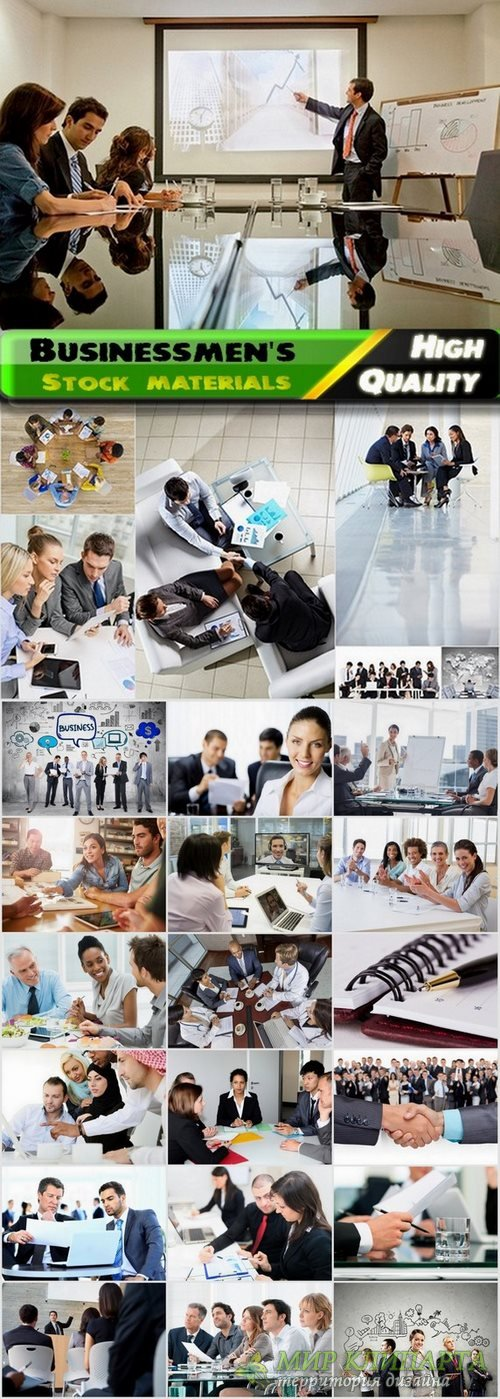 Businessmen's and business meeting Stock images - 25 HQ Jpg