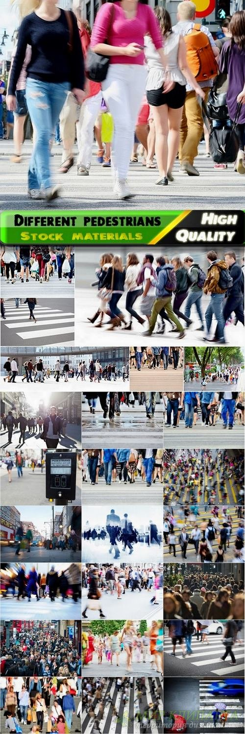 Different pedestrians on the street Stock images - 25 HQ Jpg