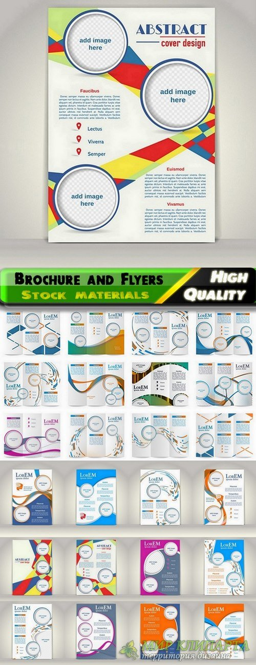Brochure and Flyers Template Design in vector from stock #22 - 25 Eps
