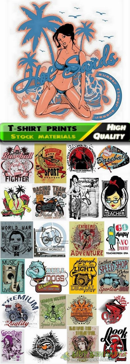 T-shirt prints design in vector from stock #7 - 25 Eps