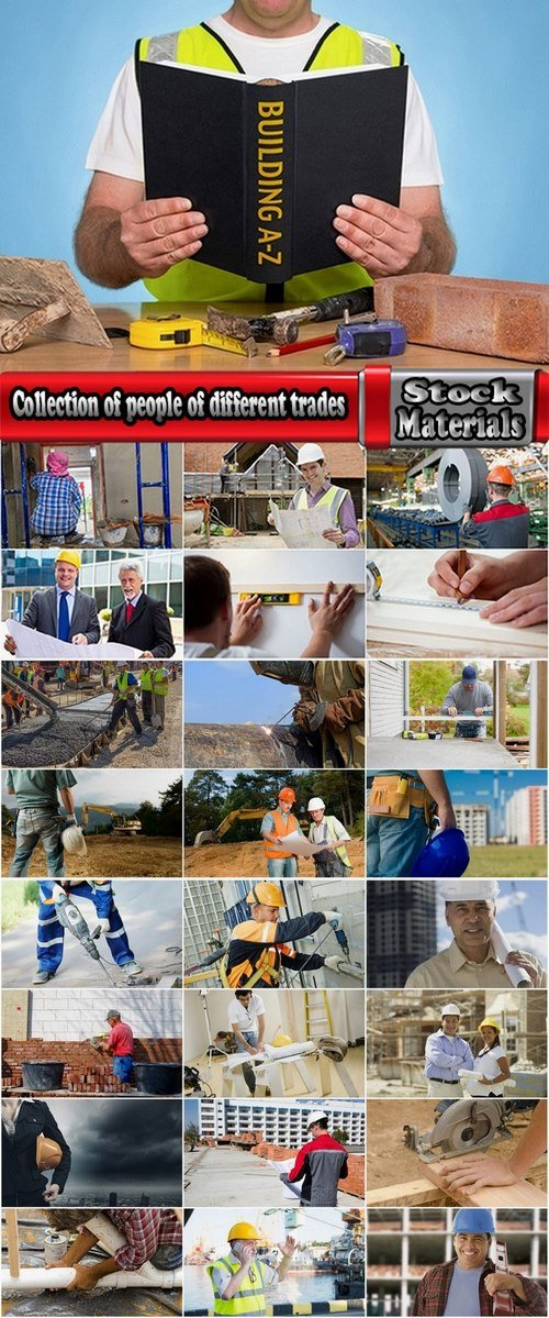 Collection of people of different trades 25 UHQ Jpeg