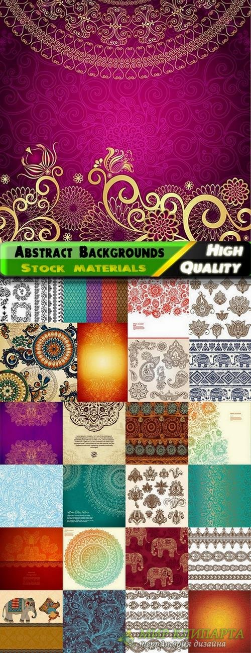 Abstract Backgrounds in indian style in vector from stock - 25 Eps