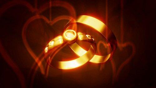 Золотые кольца футаж - Golden Rings