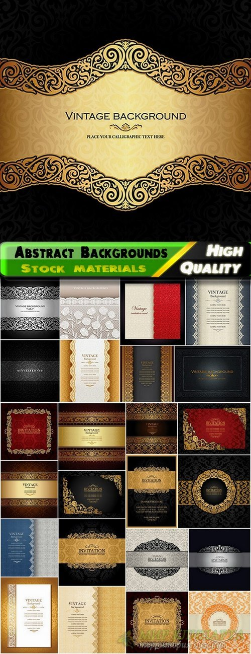 Abstract Backgrounds for Invitations template - 25 Eps