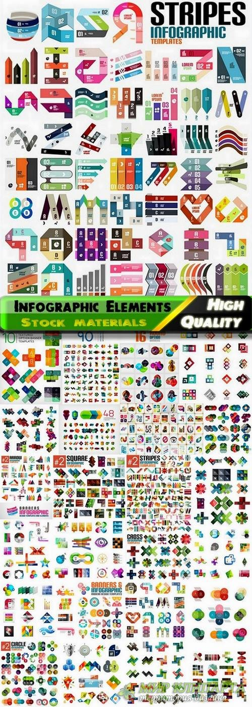 Infographic Design Elements in vector set from stock #88 - 25 Eps