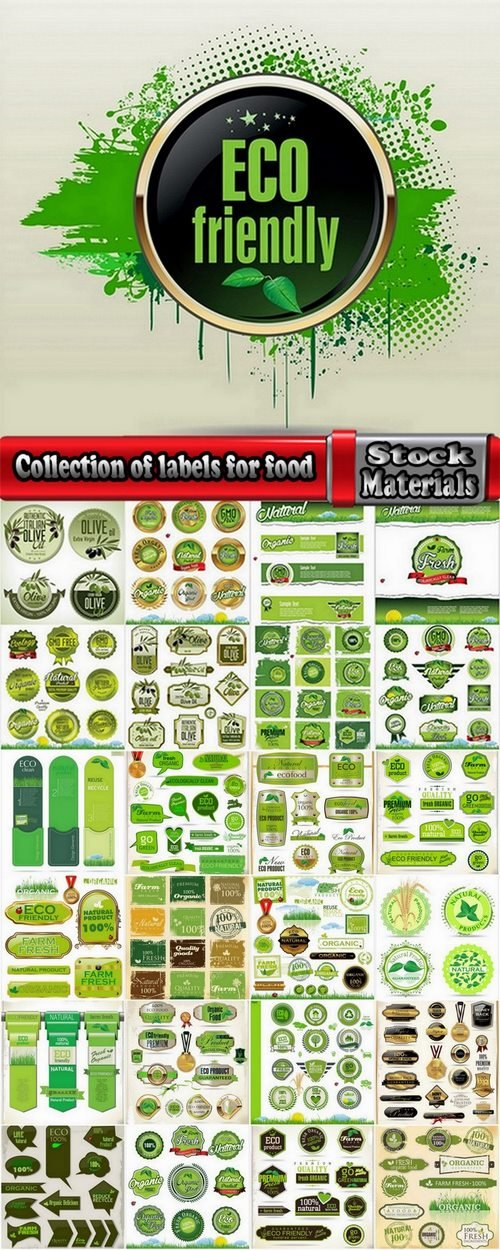 Collection of labels for food 25 Eps