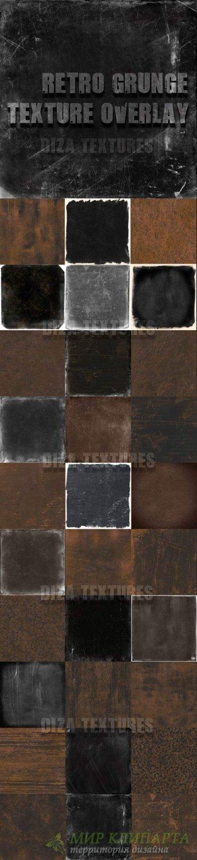 Retro grunge texture overlay