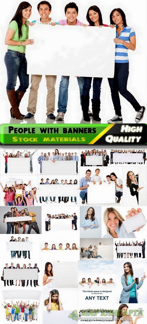 People with banners for business Stock images - 25 HQ Jpg