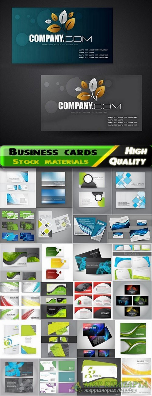 Business cards Template design in vector from stock #14 - 25 Eps