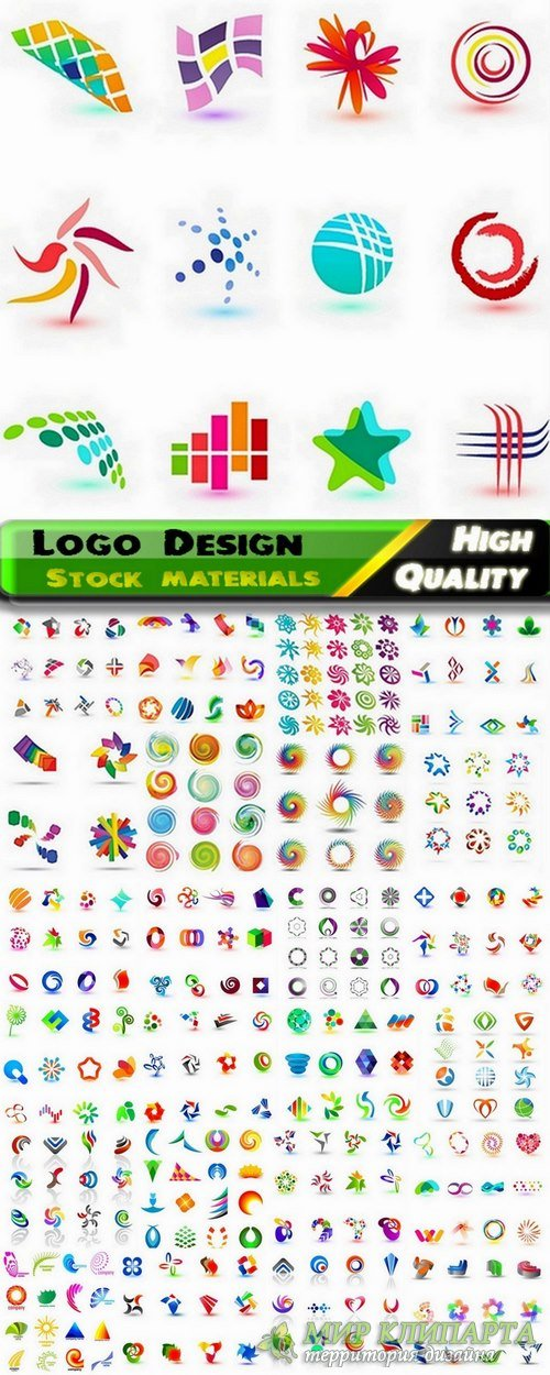 Logo Design in vector Set from stock #39 -  25 Eps