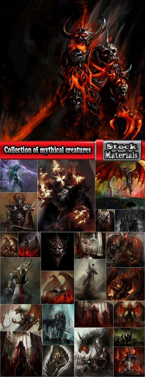 Collection of mythical creatures 25 UHQ Jpeg