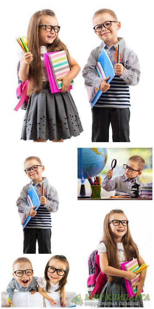 Дети, школьники, мальчик и девочка / Children, students, boy and girl - Sto ...