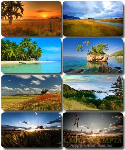 Живописные пейзажи - Обои с фото природы (альбом 30)