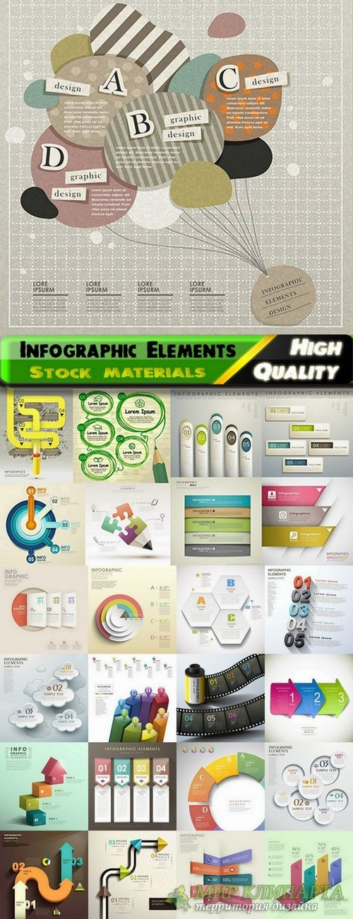 Infographic Design Elements in vector set from stock #89 - 25 Eps