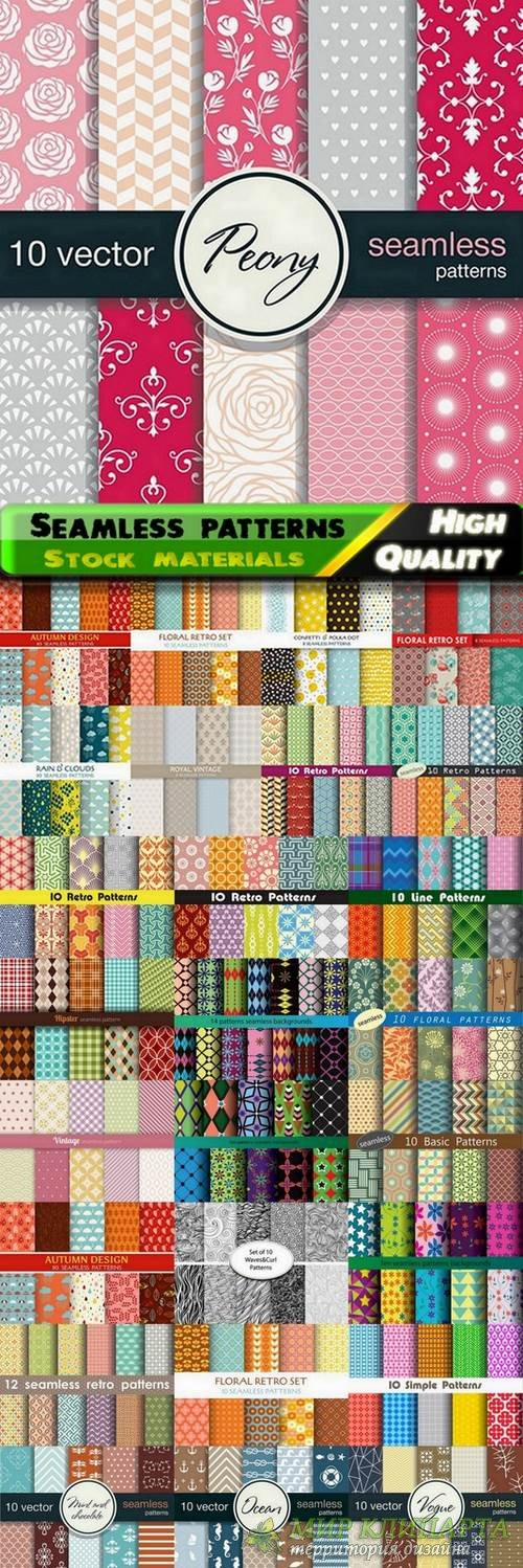 Abstract  Seamless patterns in vector set from stock #18 - 25 Eps