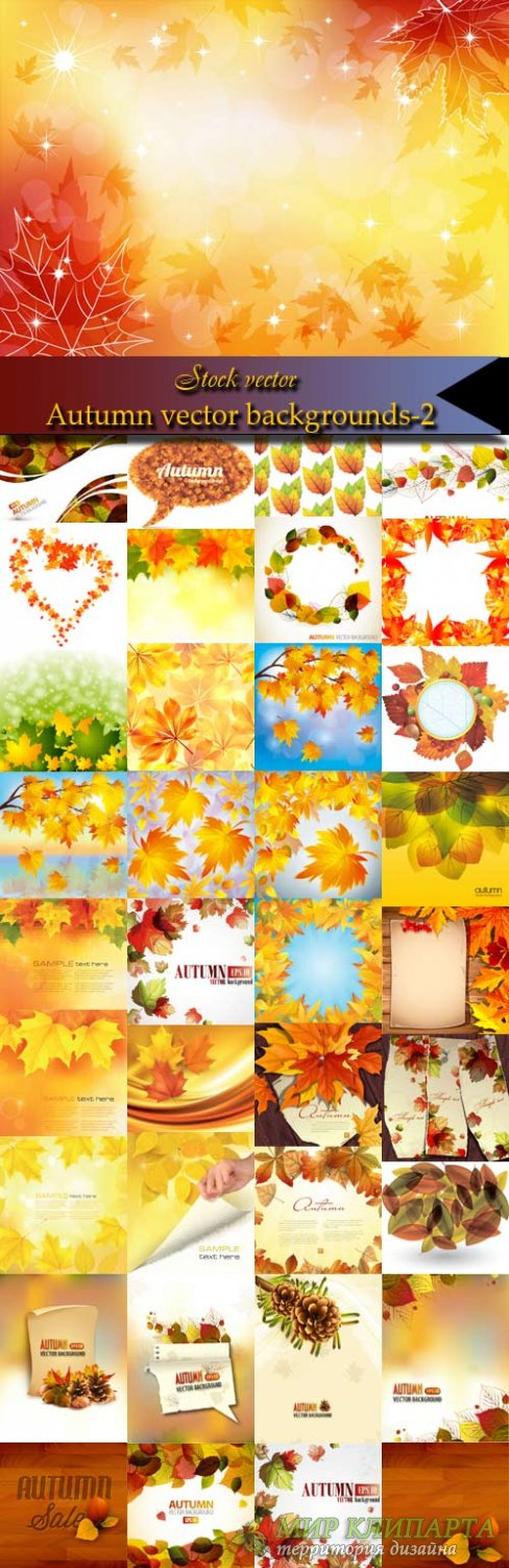 Autumn vector backgrounds-2