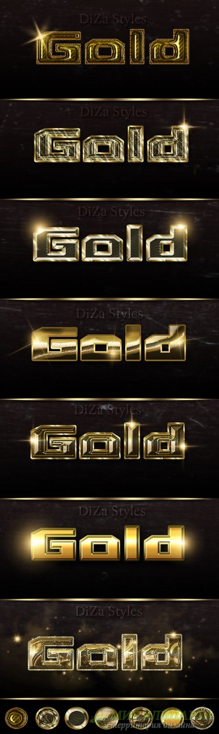 Noble metal  Photoshop styles