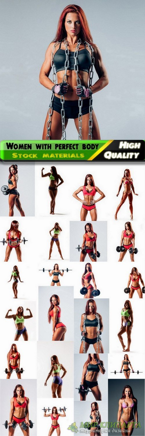 Fitness women with perfect body Stock images - 25 HQ Jpg