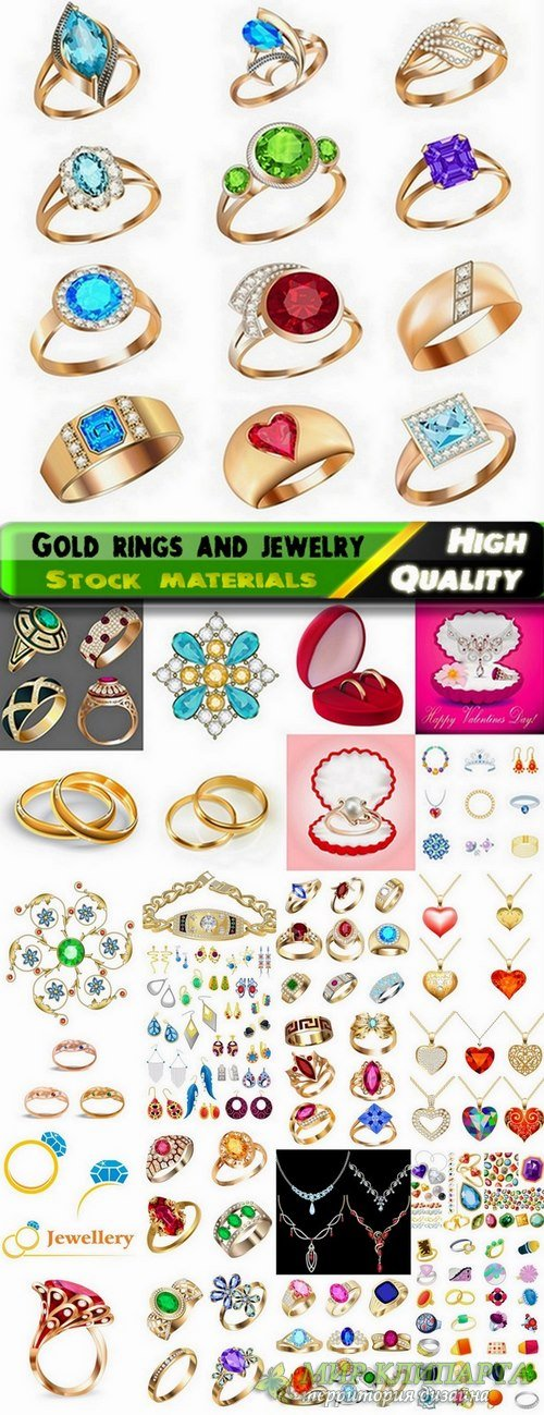 Beautiful gold rings and gold jewelry - 25 Eps