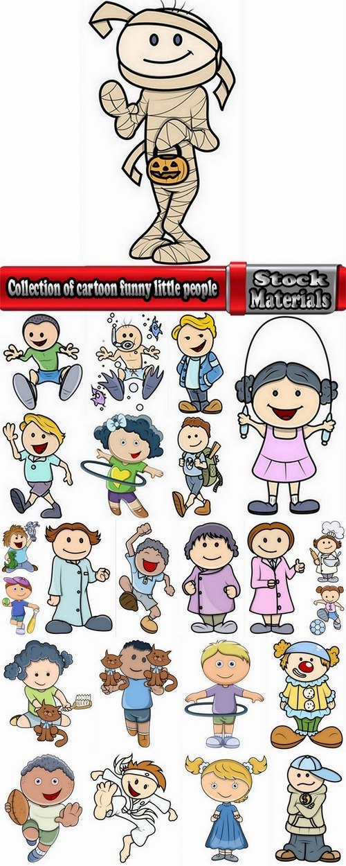 Collection of cartoon funny little people 25 Eps